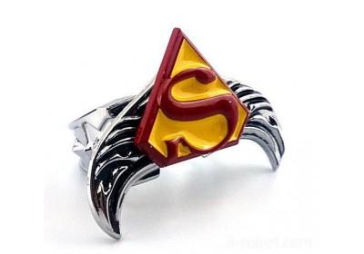 电影周边 super-man超人合金转动戒指大翅膀翼速卖通e